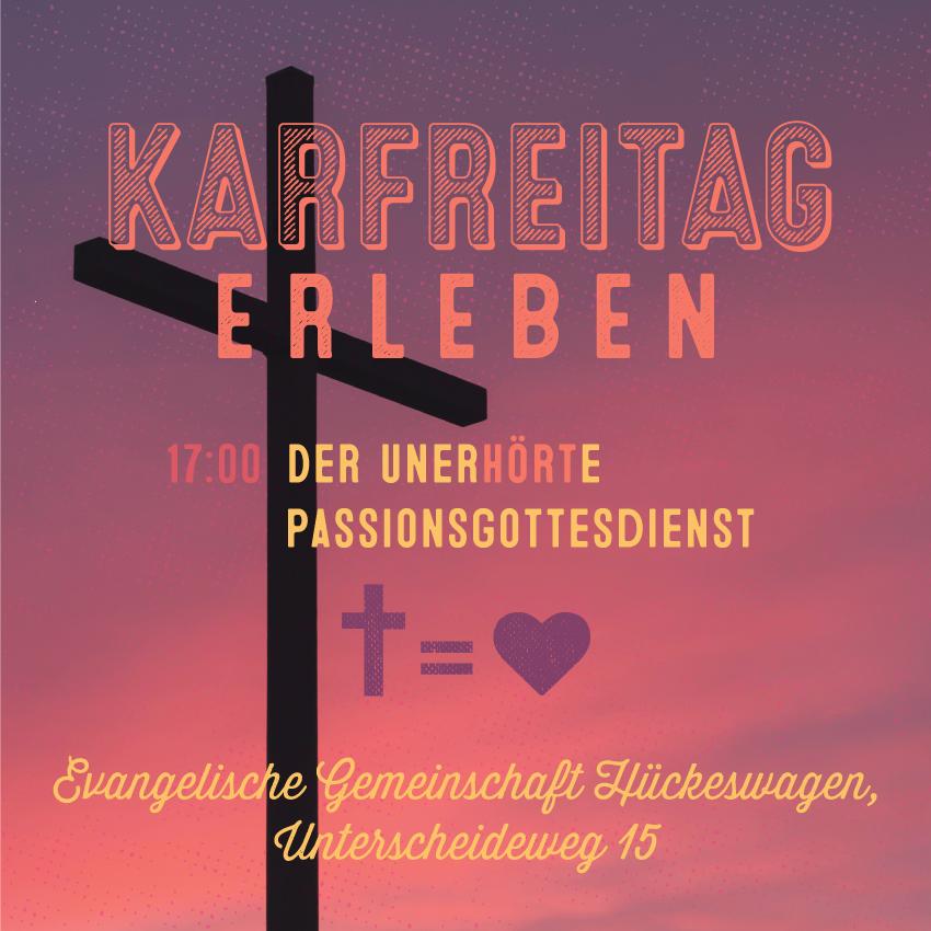 Karfreitag, 19. April 2019