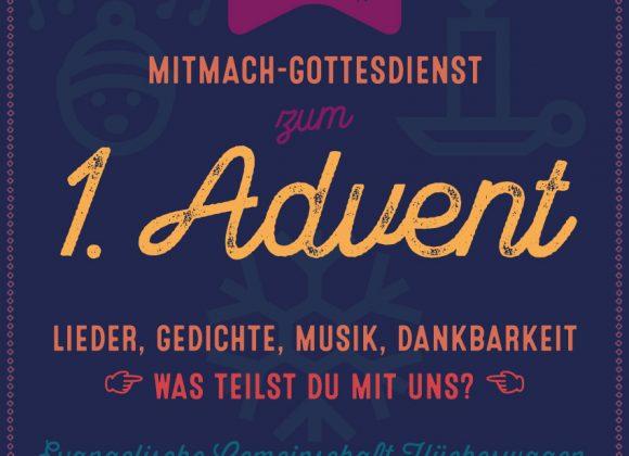 Adventsgottesdienst, 01.12.