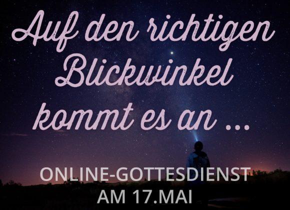 Online-Gottesdienst am 17.05.