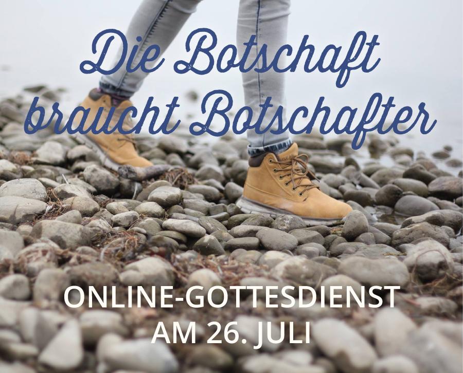 Online-Gottesdienst am 26.07.